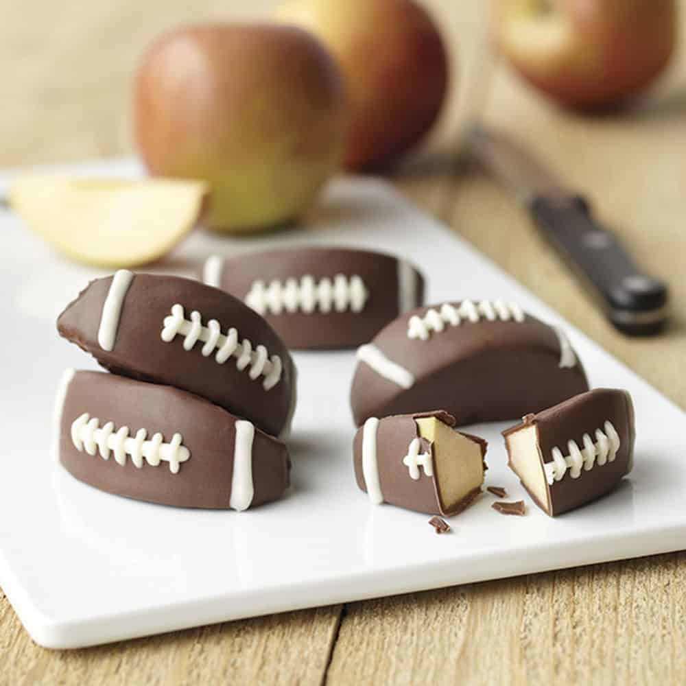 Candy Coated Apple Football Treats