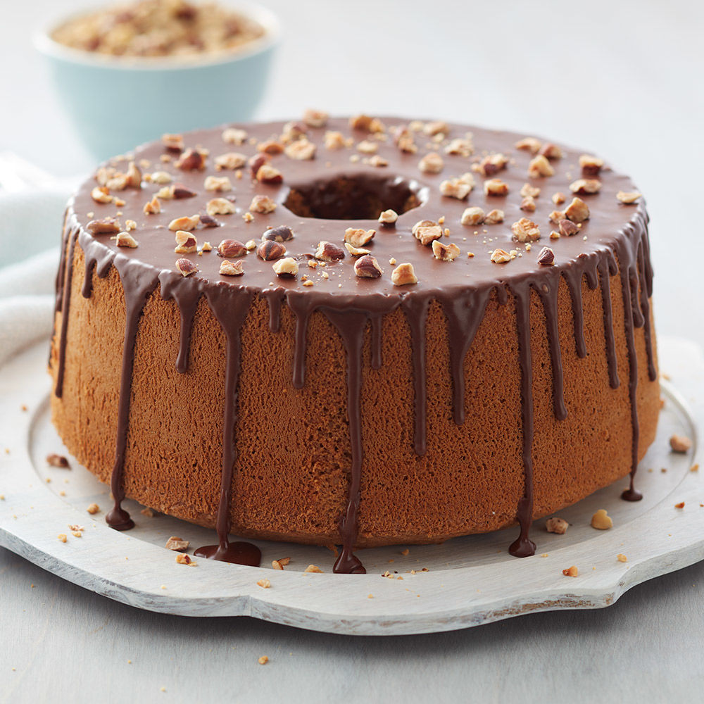 Hazelnut Mocha Chiffon Cake | Wilton Cake Decorating