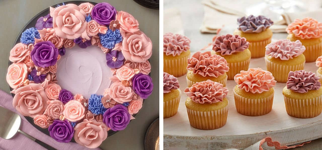 Buttercream Flower Wreath Cakes Other Floral Techniques