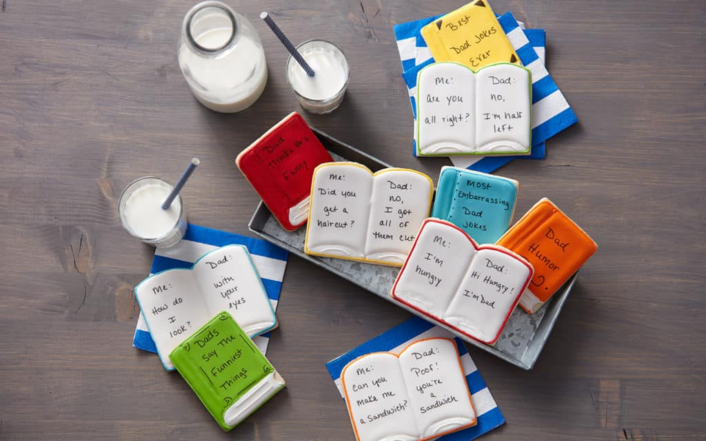Dad Joke Cookies- Books with hand-written dad jokes on the pages