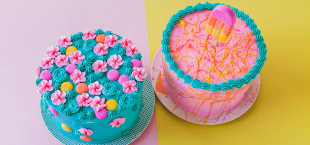 Double the Fun: 2 Colorful Summer Cakes