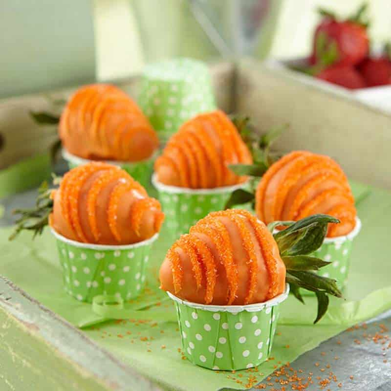 Carrot Candy Coated Strawberries
