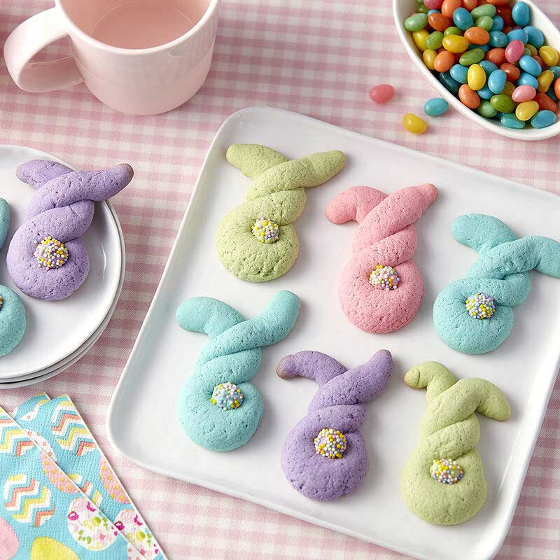 twisted dough bunny shaped cookies