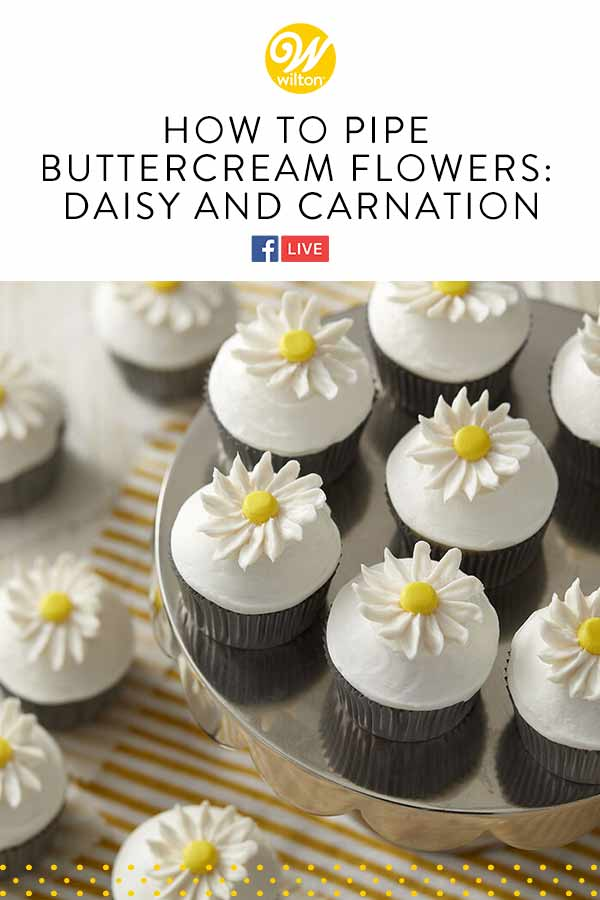 how to pipe a buttercream flowers daisy and carnation