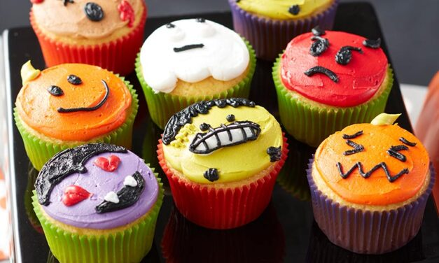 How to Make Halloween Emoji Cupcakes
